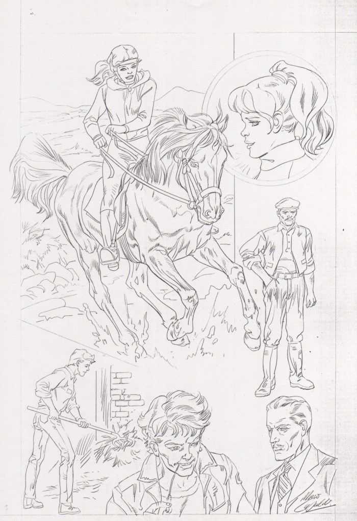 "Art for a horse story for the proposed Marvel UK title ""Pet Tails"" by Mario Capaldi"