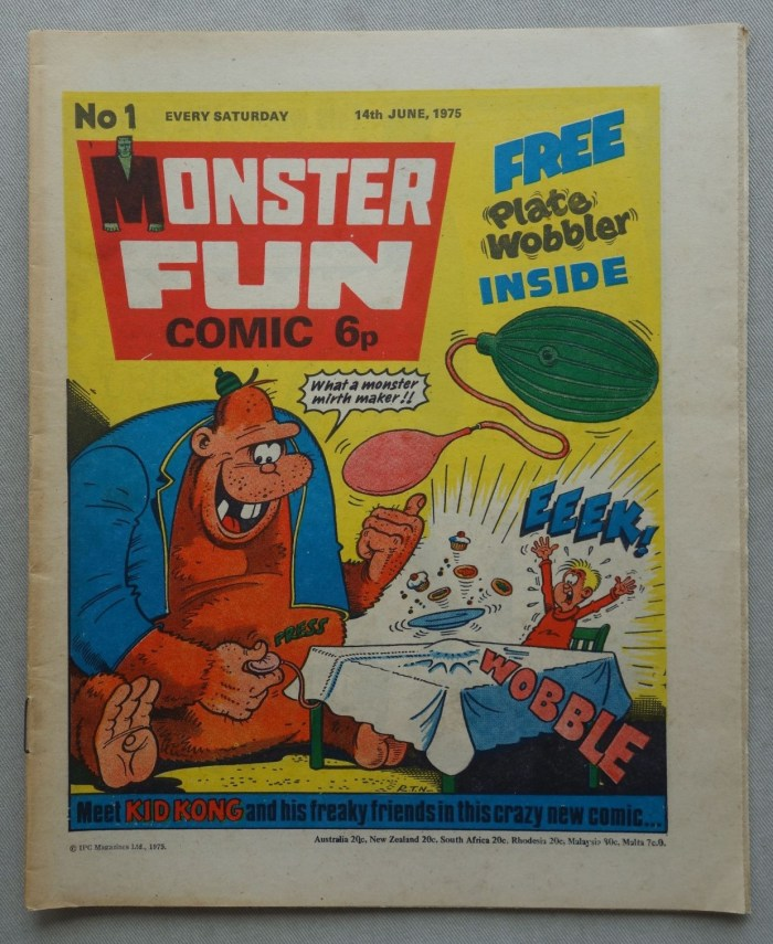 Monster Fun comic #1 - cover dated 14th June 1975