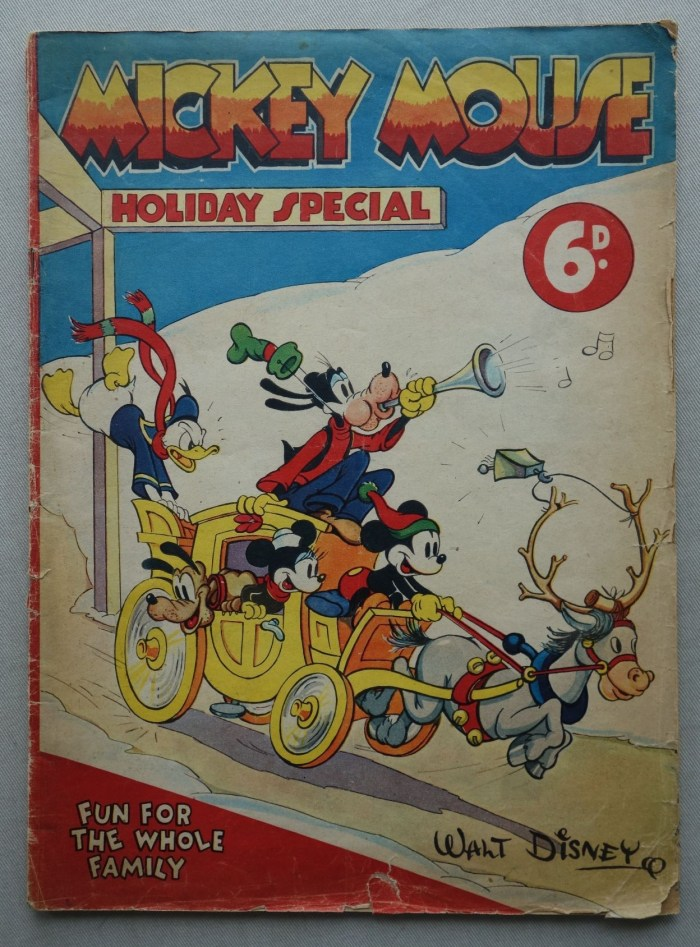 Mickey Mouse Holiday Special comic 1937-1938