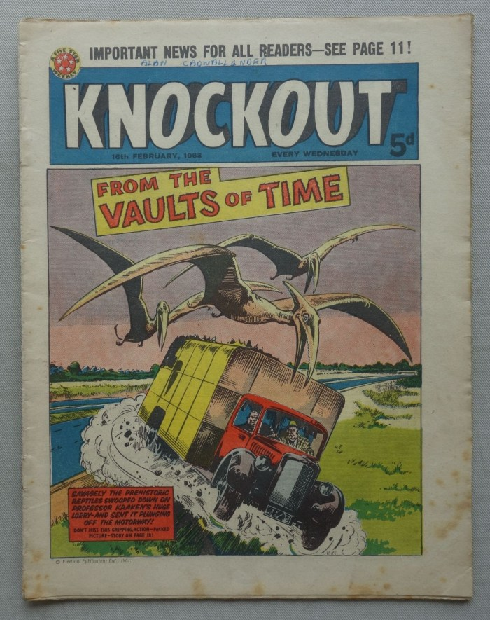 The final issue of Knockout, cover dated 16th February 1963