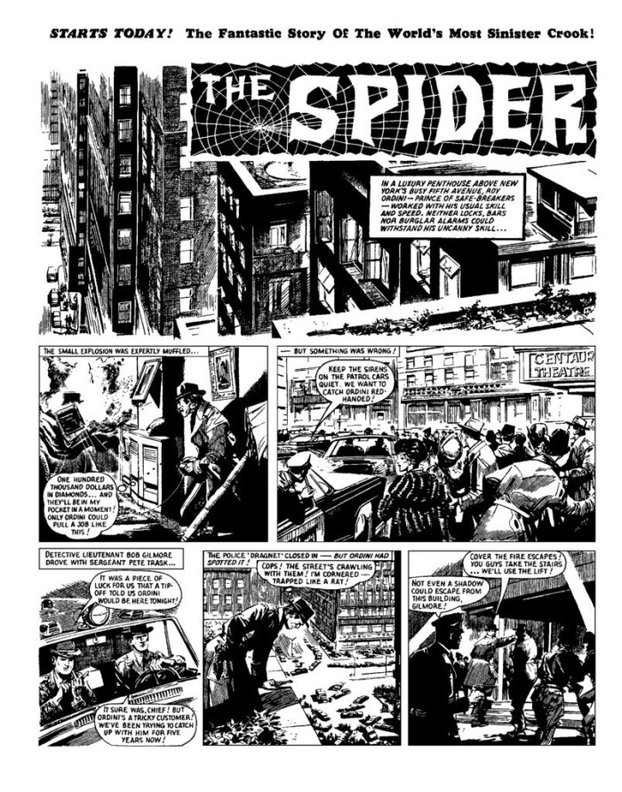 Lion - The Spider - issue cover dated 26th June 1965 - Page One