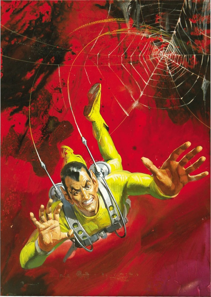 The Spider as featured on the cover of Fleetway Super Library Fantastic Series no. 2 (January 1967). Art by Alessandro Biffignandi. Via Bear Alley