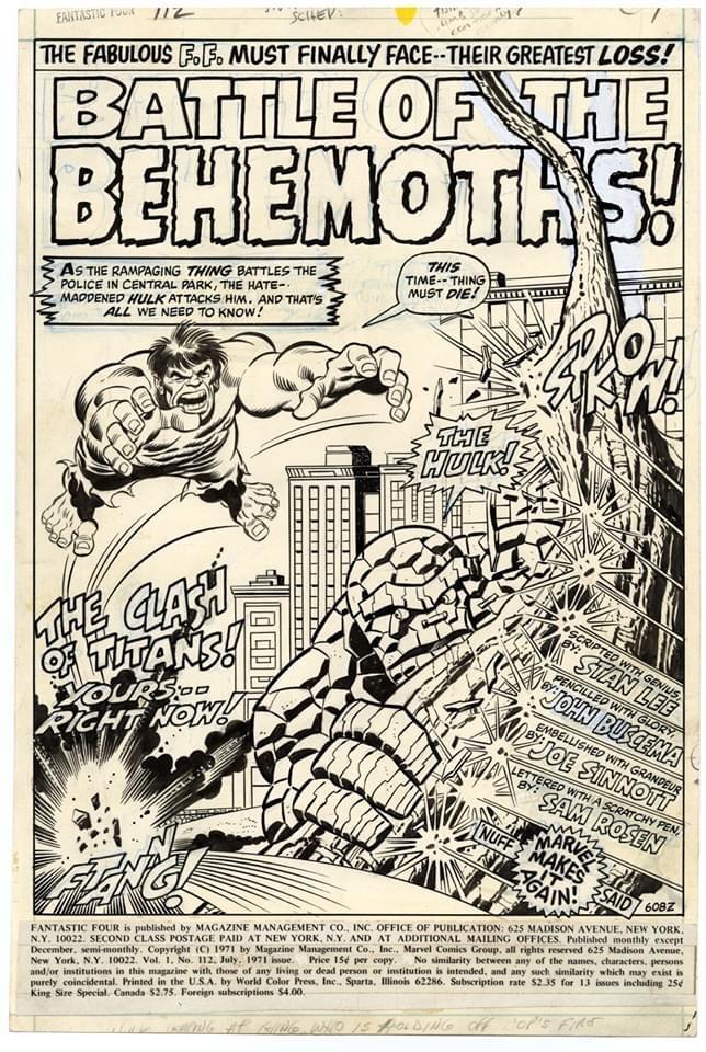 Fantastic Four #112 - Splash Page