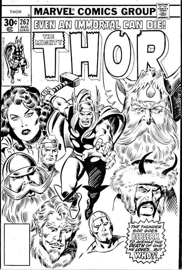 The Mighty Thor #262 - Cover Art