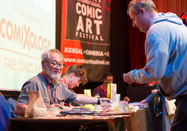 Stan Sakai at the 2017 Lakes International Comic Art Festival in Kendal. Image: LICAF