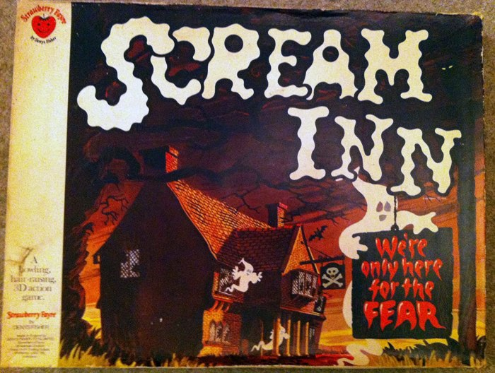 Scream Inn Board Game produced by Denys Fisher in 1974