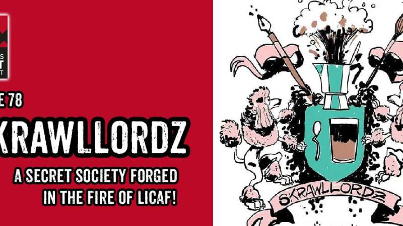 Meet the Skrawllordz – a secret society forged in the fire of the Lakes International Comic Art Festival!