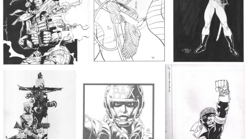 Still time to bid on Frank Miller art offered in MarthaArtAuctions charity auction