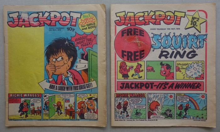 Jackpot Issues 1 and 2, published in 1979