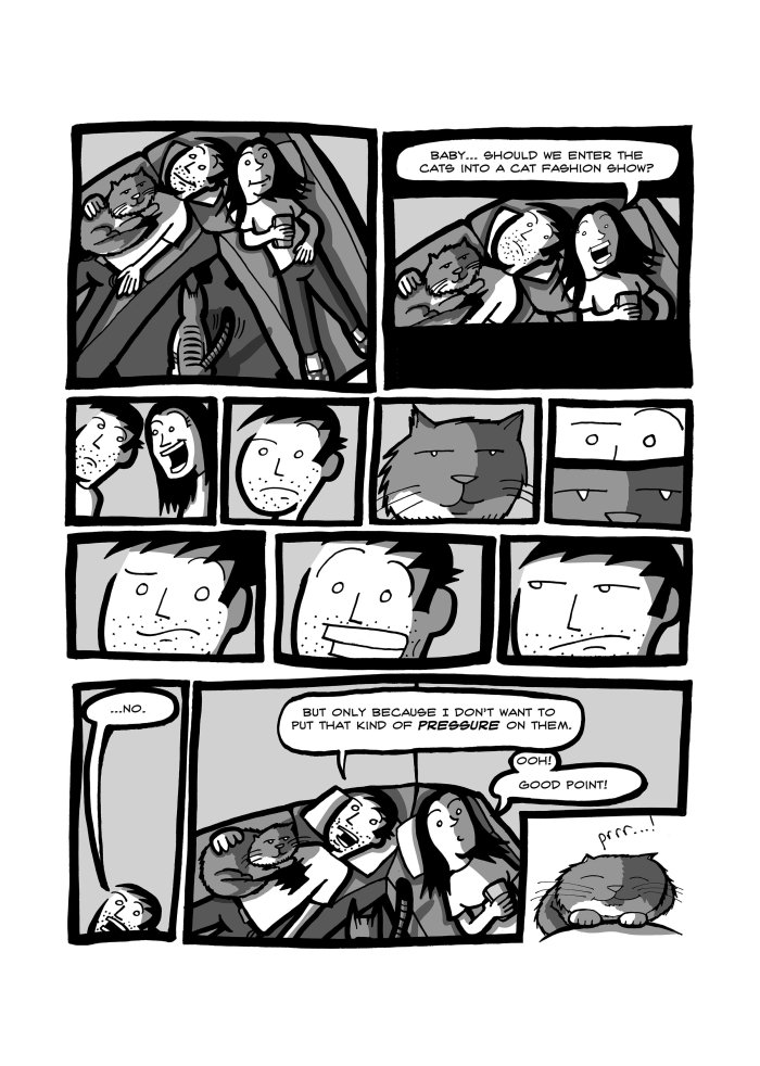 "A page from Matt Smith's ""You're Stuck With Me Now"" graphic novel"