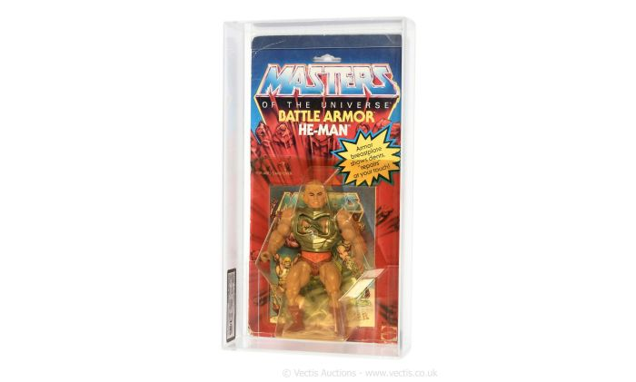 Mattel 1983 Masters of the Universe Battle Armour He-Man figure