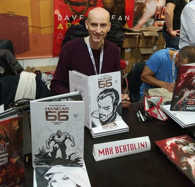 Italian artist and writer Max Bertolini