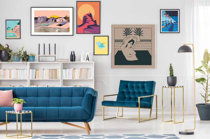 A selection of Printed Originals Minimalist Prints. The company offers original limited art prints from rising International artists. Image courtesy Printed Originals