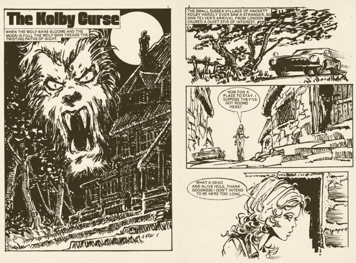 Interior art by Ian Gibson on Pocket Chiller Library 72 - The Kolby Curse