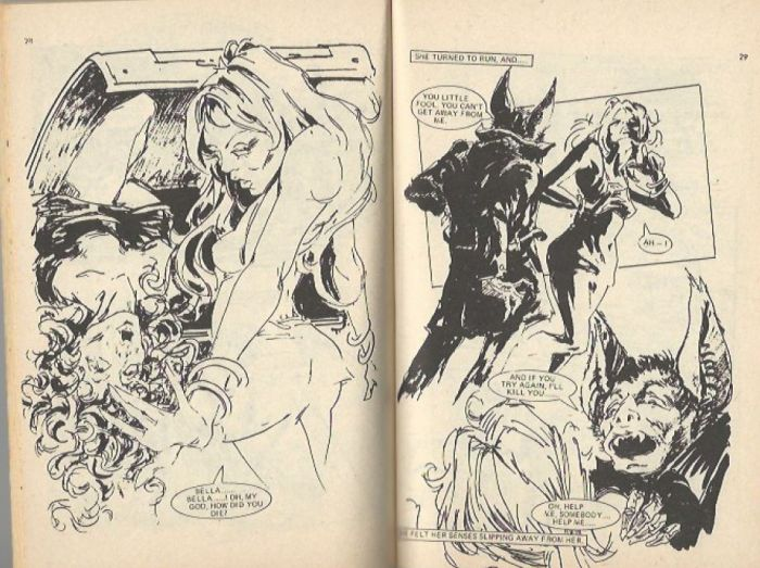 """Art by Ian Gibson from Pocket Chiller Library Issue 60, """"The Bat"""""""