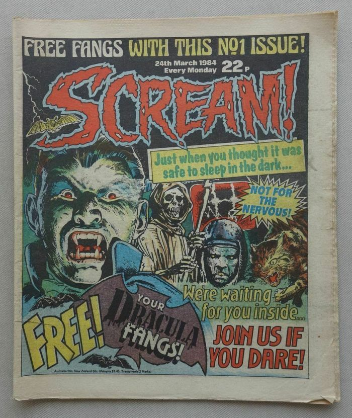 Scream Issue 1, cover dated 24th March 1983