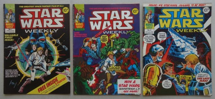 Early issues of Marvel UK's Star Wars comic