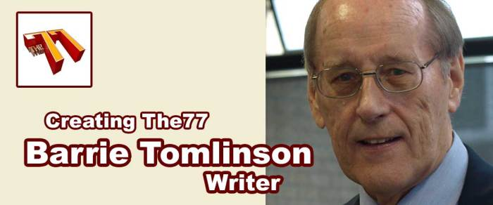 Meet The77: Comics writer and editor Barrie Tomlinson