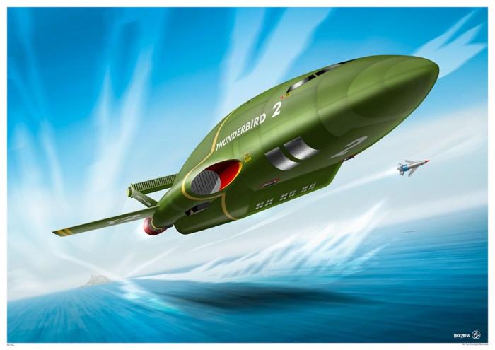 Thunderbird 2 by Rodrigo Barraza - Art Print