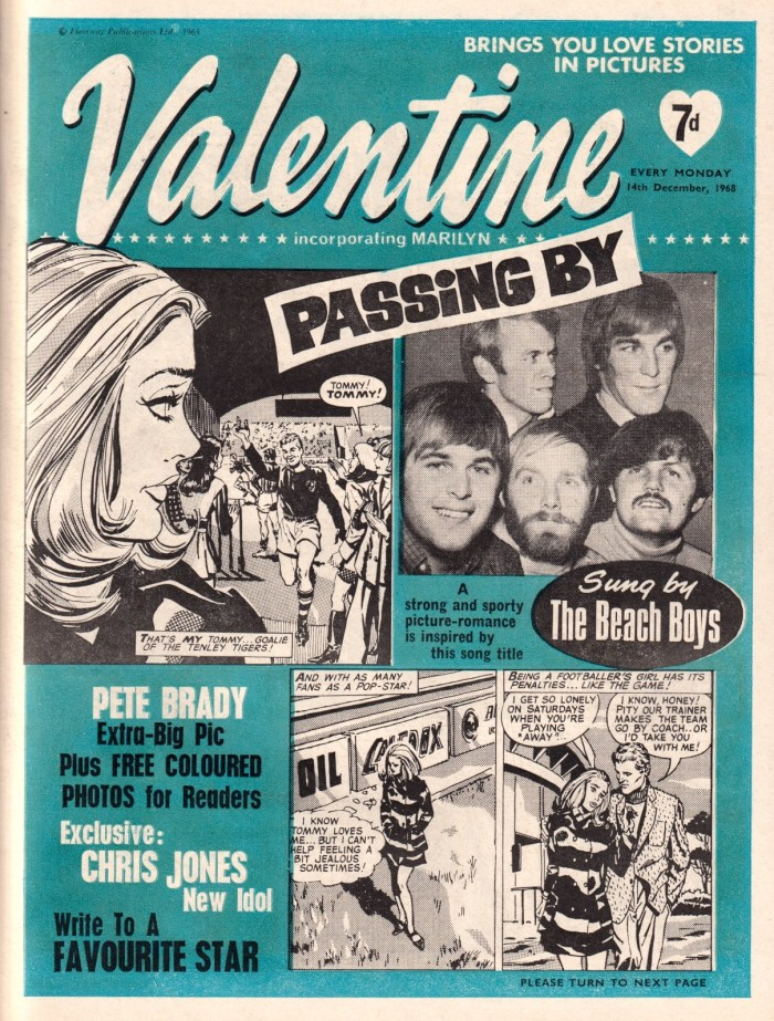 Valentine - cover dated 14th December 1968
