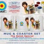 Doctor Who Target Books Retro Mug and Coasters - The Destiny of the Daleks by Andrew Skilleter
