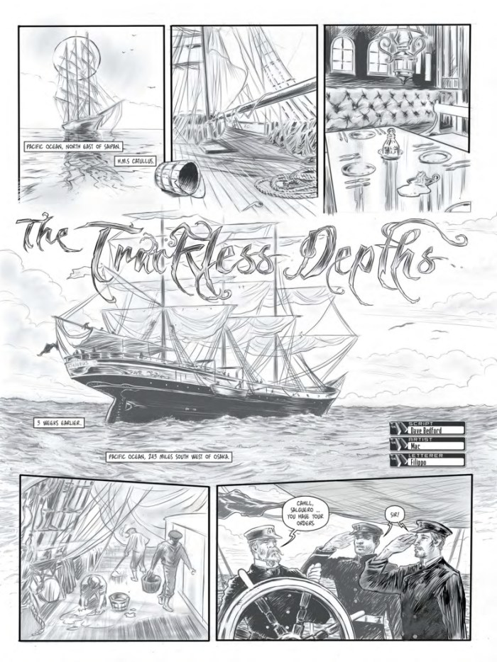 "The77 Issue Three - "" The Trackless Depths"" by Dave Bedford and Mac"