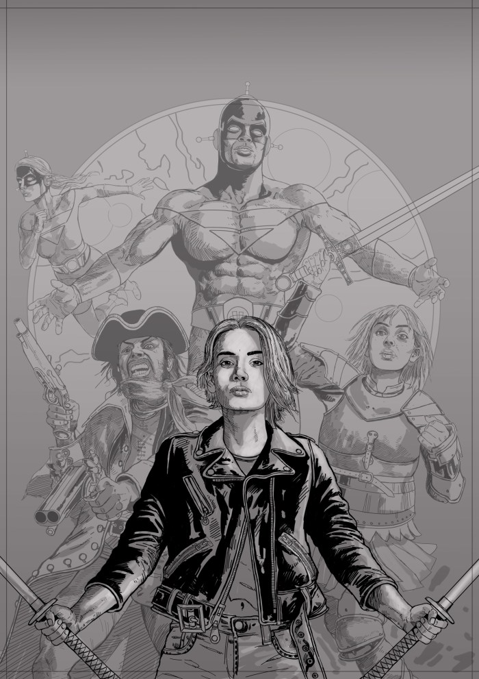 Charlie Gillespie's pencils for his cover for the ComicScene Annual 2021