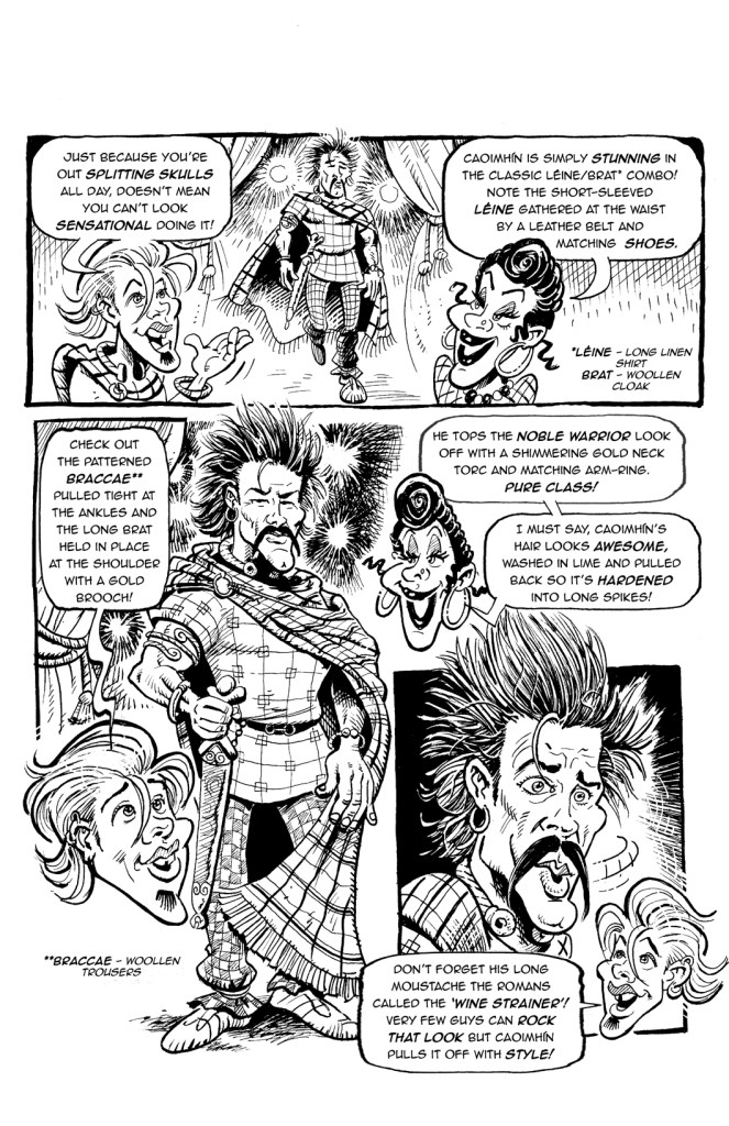 One of the few comic strip pages in the book