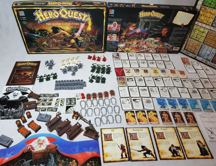A copy of the original Heroquest on sale on eBay in 2020