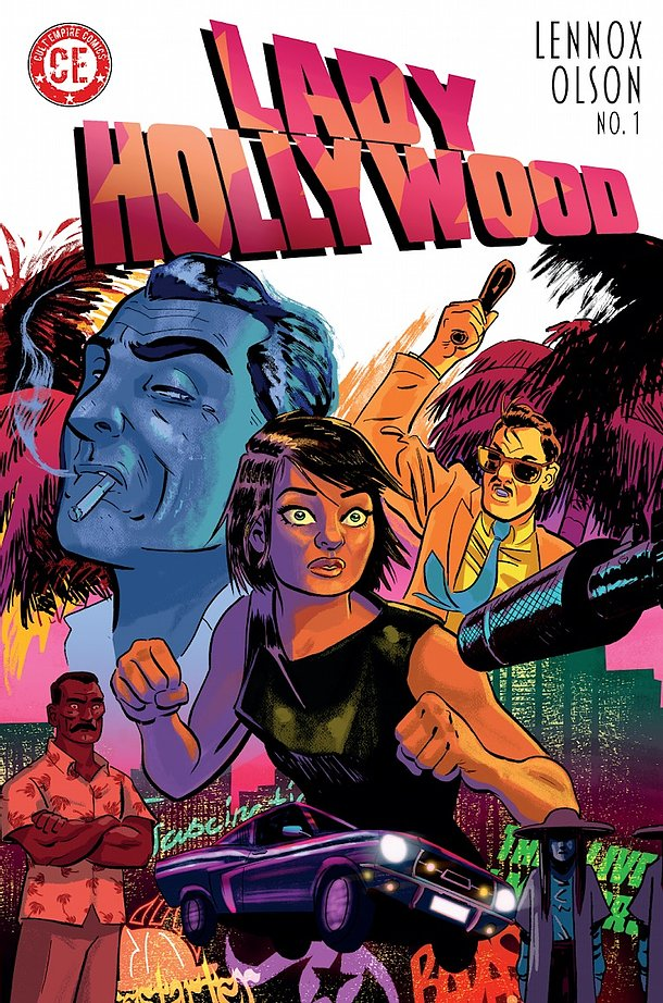Lady Hollywood #1 - Cover by Russell Mark Olson
