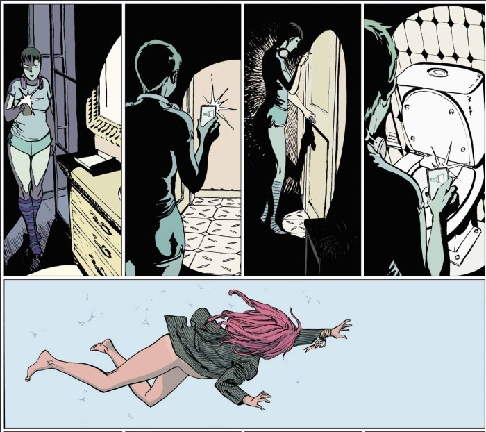 Part of an extended wordless sequence in Karmen by Guillem March