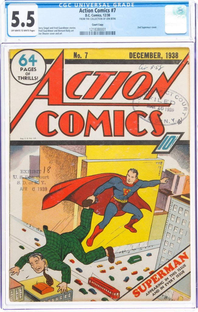 Action Comics #7 featuring Superman