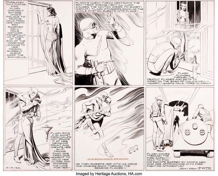 Flash Gordon by Alex Raymond, published 7th July 1940
