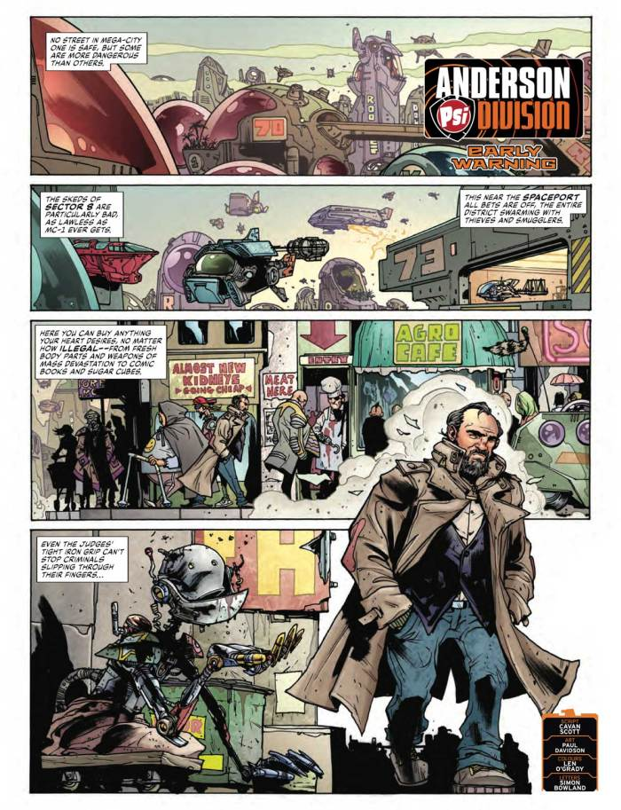 2000AD 2206 - Anderson, Psi Division: Early Warning
