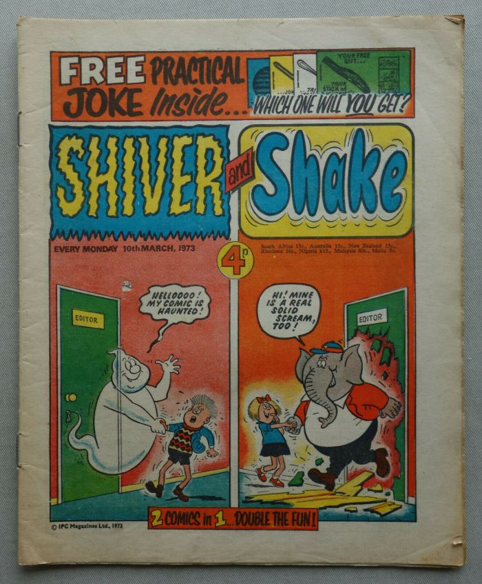 Shiver and Shake No. 1 cover dated 10th March 1973