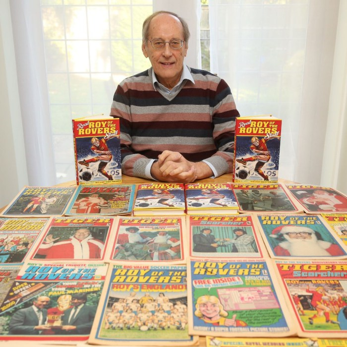 Barrie Tomlinson with just a few of the things he's edited across his long career. Photo via Barrie Tomlinson