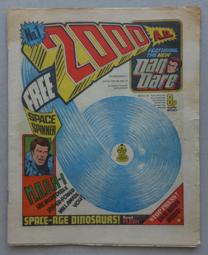2000AD Prog 1 cover dated 26th February 1977