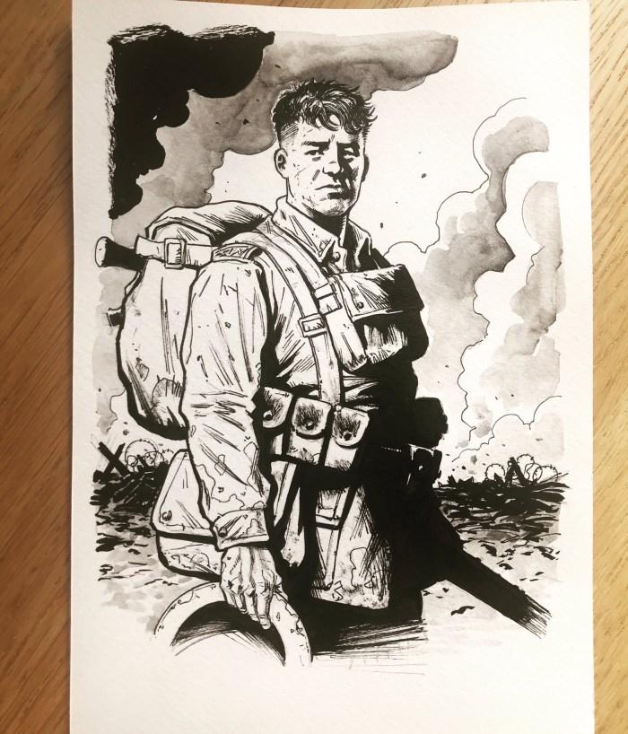 Charlie Bourne of Charley's War by Patrick Goddard
