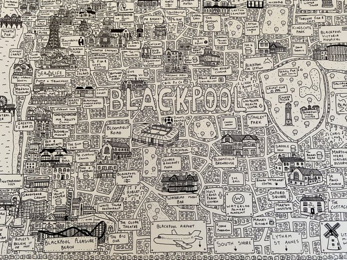 Dave Gee's Doodle Map - Blackpool