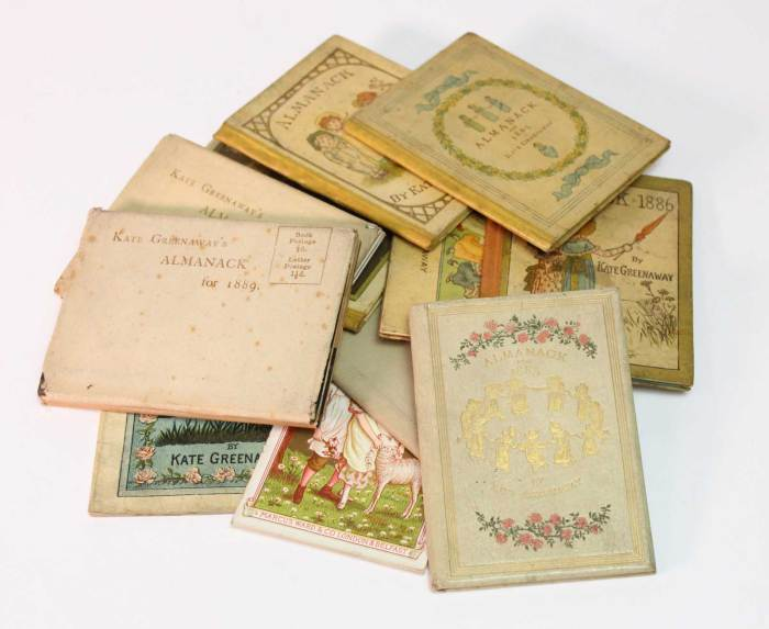Early Kate Greenaway Almanacks