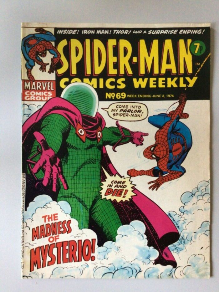 Spider-Man Comics Weekly No. 69 cover dated 8th June 1974