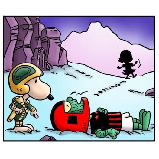 A spectacular panel from a strip drawn by Dave Windett for a Special issue of Sector 13