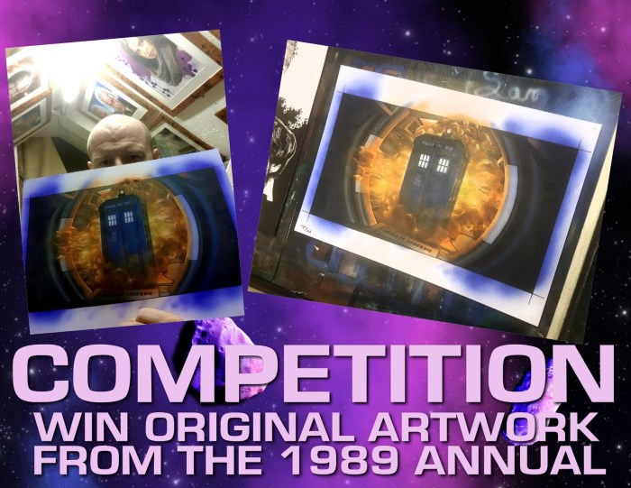 The he Unofficial Dr Who Annual 1989 - Competition