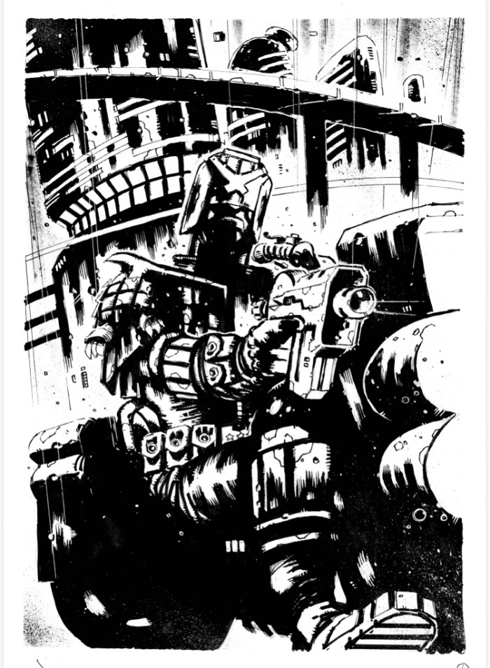 Judge Dredd by Andrw Sawyers