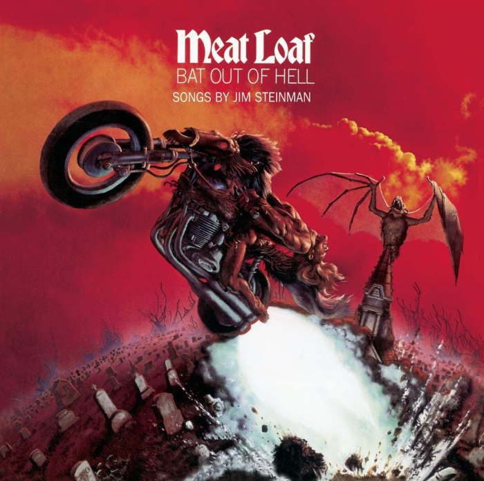 Bat out of Hell album cover by Richard Corben