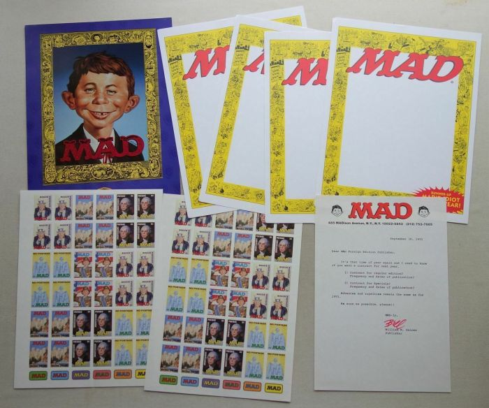 Mad Magazine Promotional Items 1990s Letter, Poster, Letterhead