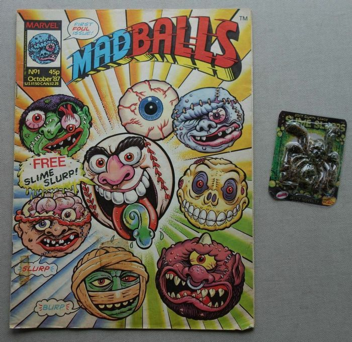 Marvel UK Madballs Issue 1 cover dated October 1987, with free gift