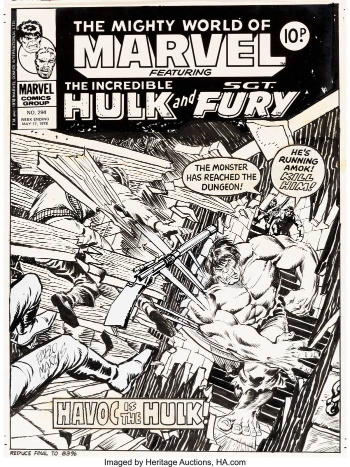 Pablo Marcos Mighty World of Marvel #294 Cover featuring the Hulk