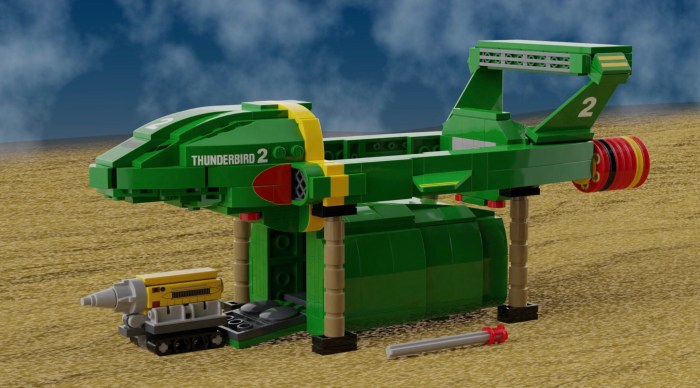 LEGO Classic Thunderbirds by NathanR2015 - Thunderbird 3 and Thunderbird 2 and Mole