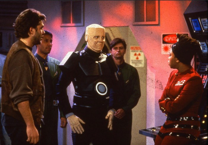 "An image from the ill-fated American Red Dwarf. ""We had talent on a grand scale with Craig Bierko, who continues to be one of the most amazing talents,"" Peter noted back in 2019. ""It was a near miss... the second version of the pilot came closer but sadly it was not to be."""